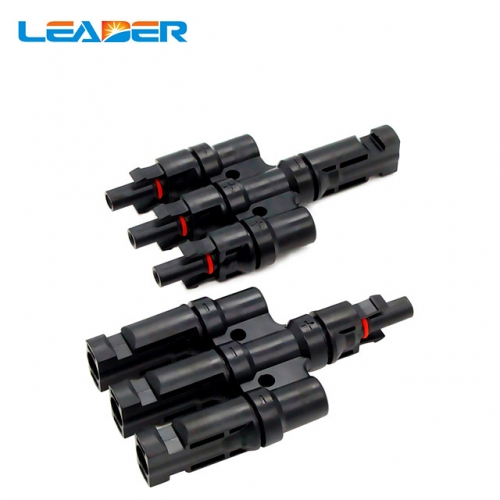 Waterproof MC-4T Branch Solar Panel Cable Connectors Male and Female 1-2//3//4//5//6